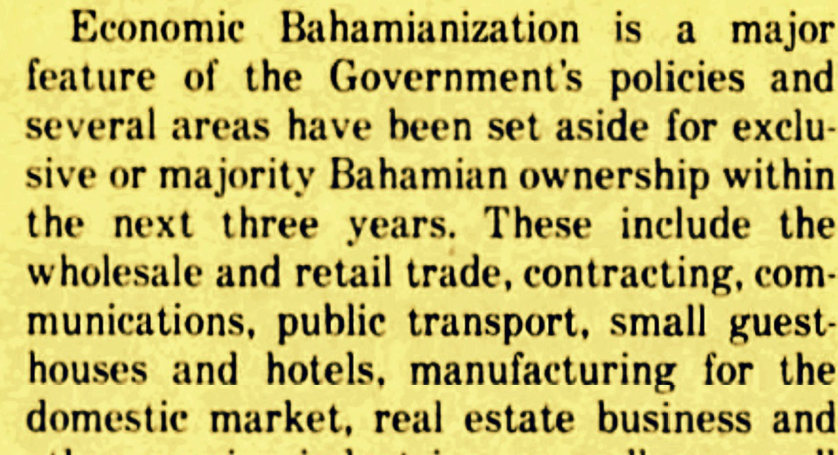 The Rise and Demise of Bahamianization 1967 – 1983