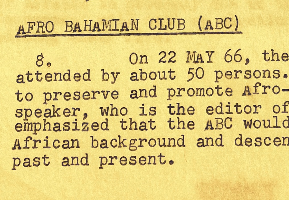The CDP, NDP, ABC, CCKG, BYPA – New Bahamian Political Parties and Activist Groups  1966
