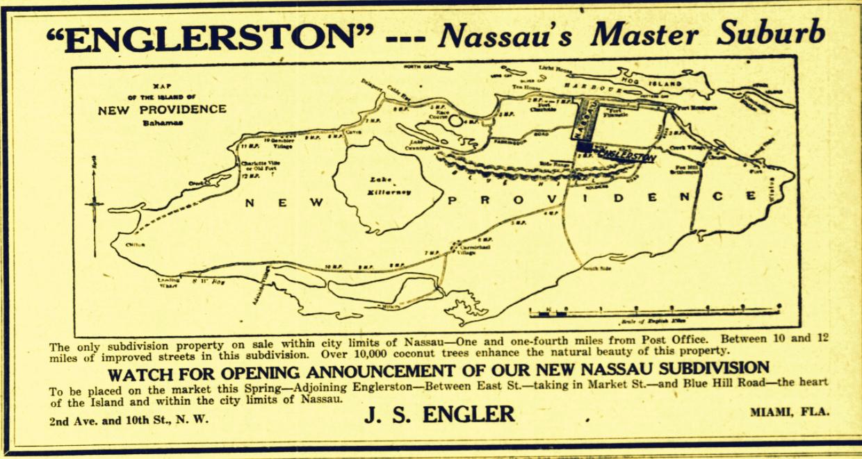 Englerston, Romanian born J. S. Engler's Dream Subdivision  1925