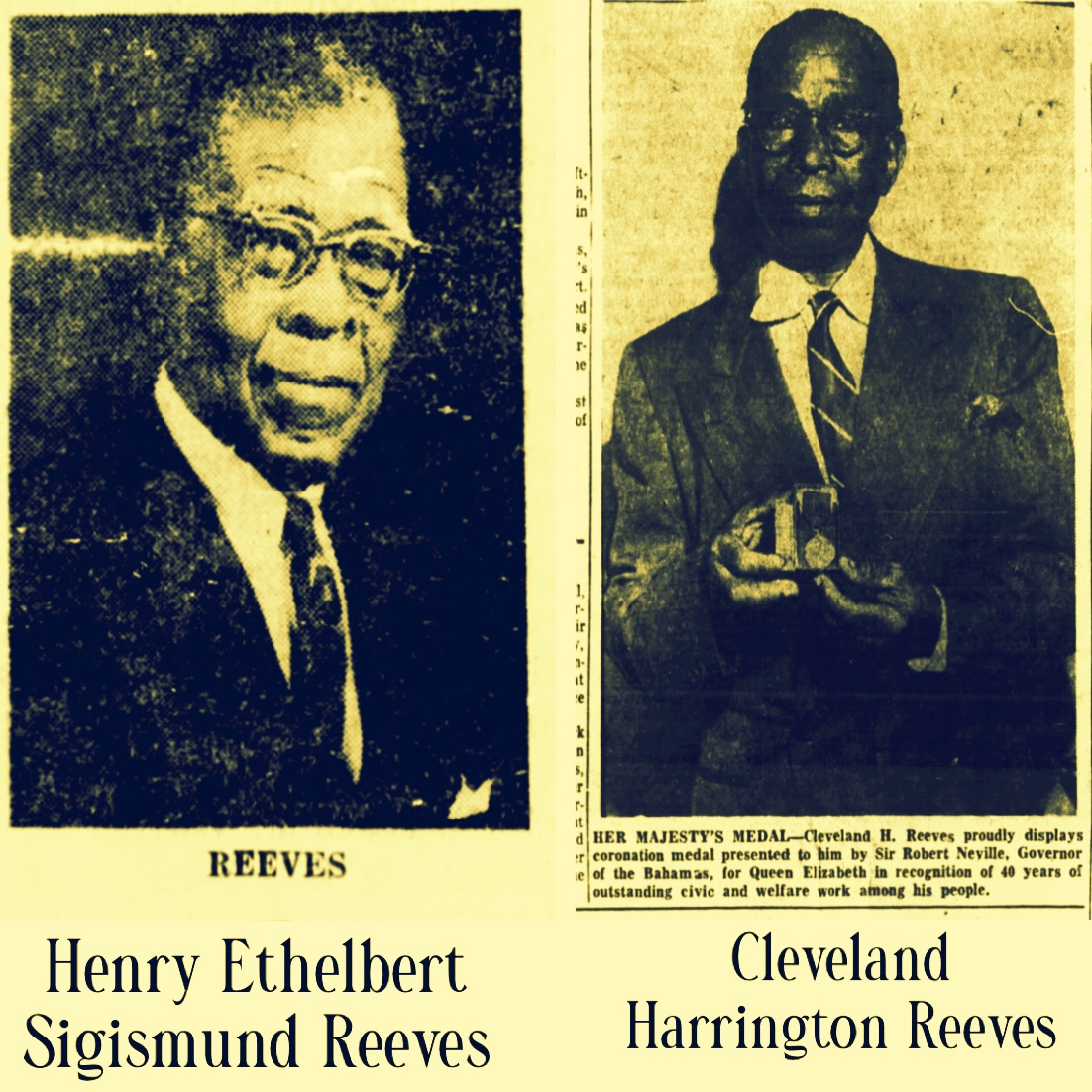 Accomplished Brothers Henry Ethelbert Sigismund Reeves and Cleveland Harrington Reeves 1919