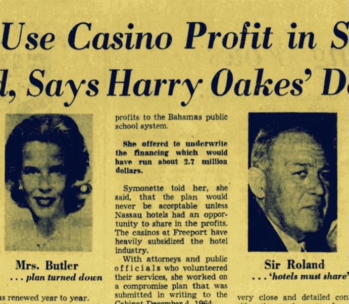 When Sir Roland Rejected Harry Oakes's Daughter's Deal For Her Own Casino Licence In Exchange For Education Money 1965