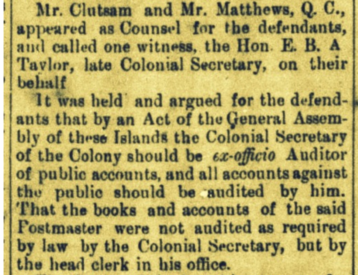 Government Tries But Fails To Recover Money Embezzled by Jailed Member of Assembly Thomas N. G. Clare 1891