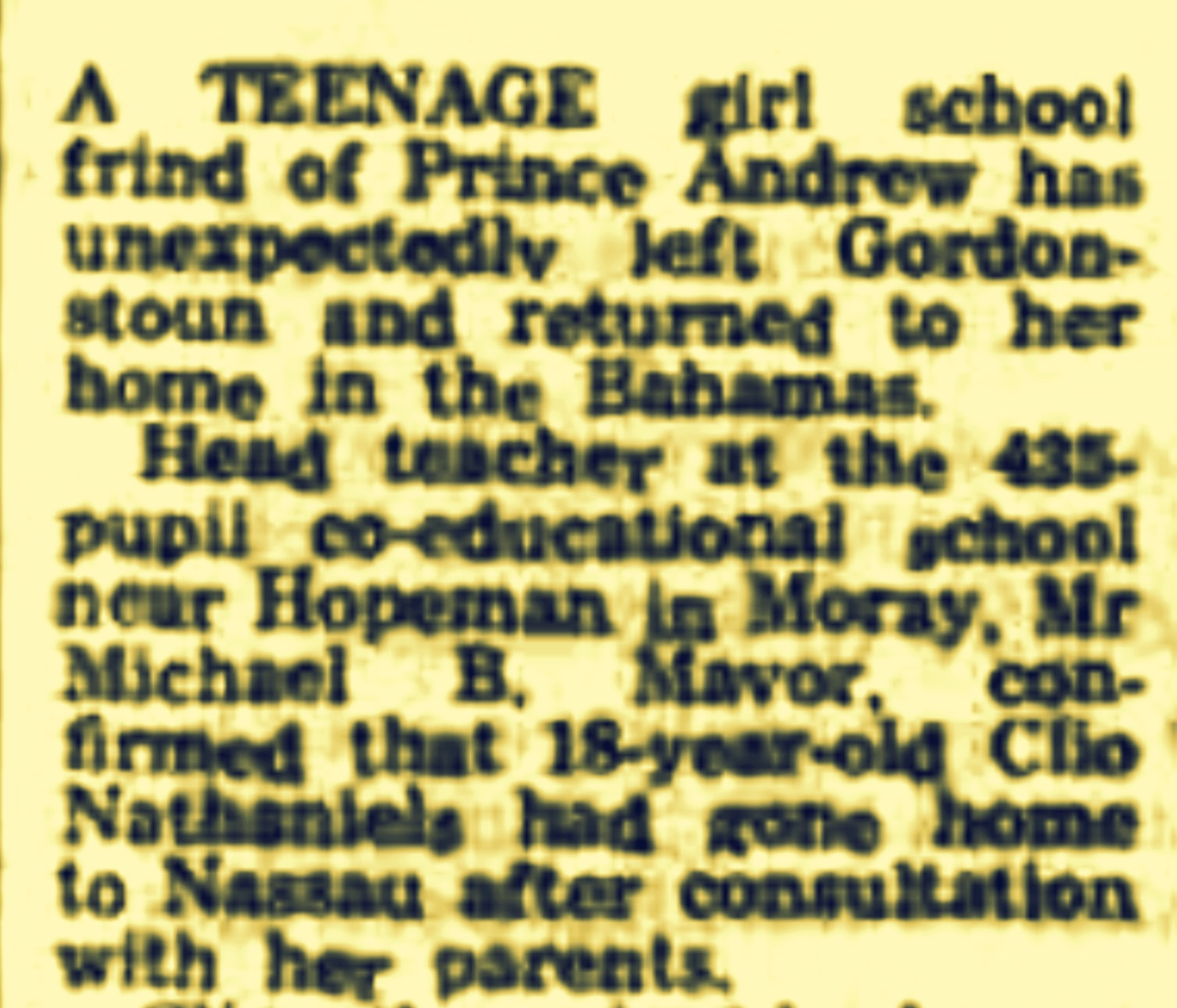 Teenage Girl From Nassau Who Became Friends With A Teenage Prince… But It All Ended In Tears 1979