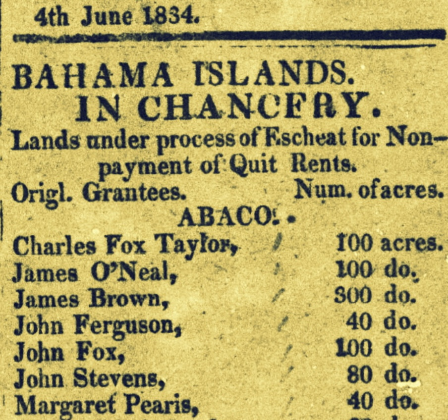 Barak Morton, William Whylly and other Planters who owed Government for granted land as Slavery ended 1834